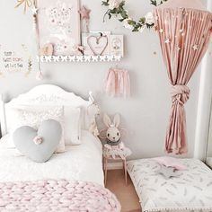 Inspiration from Instagram — Pastel girls room idea, tent, pink and grey, pink and gold girls room, cozy reading nook, toddler girl bedroom - M a r i e + A r i a + B u m p (@life.with.aria.and.the.bump)