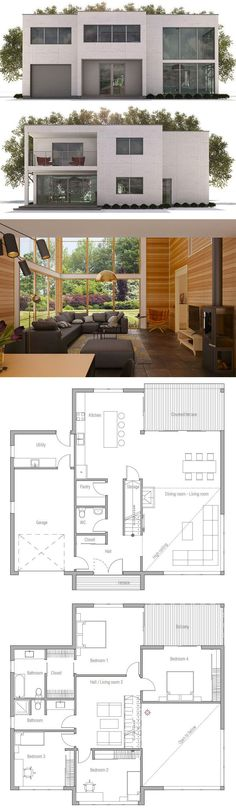Minimalist House Plan, Contemporary Home Plan, Modern House Plan