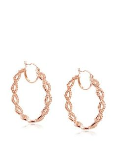 65% OFF CZ by Kenneth Jay Lane Medium Rhianna Hoop Earrings