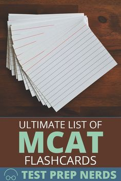 The Ultimate List of MCAT Flashcards for Enhanced Prep Med Student, Student Studying, Mcat Study Tips, Study Schedule, Medicine Student, Nursing Students, Medical Students, Nursing Schools, School Admissions