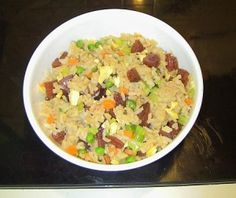 Chinese Fried Rice Recipe  Chinese style fried rice is some good stuff when done right.  There's a secret to it to keep it from being too sticky.  I share that with you in this recipe...