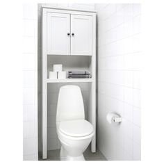 IKEA - HEMNES, Bathroom shelf unit, , The open shelves are perfect for perfume bottles or other things that you use frequently.You get an easy overview of the contents since the wall cabinet is shallow. Bathroom Shelf Unit, Ikea Bathroom, White Bathroom, Bathroom Furniture, Bathroom Storage, Small Bathroom, Rental Bathroom, Bathroom Cabinets, Toilet Storage