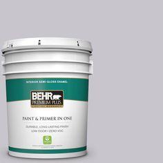 BEHR Premium Plus 5-gal. #N550-2 Centre Stage Semi-Gloss Enamel Interior Paint