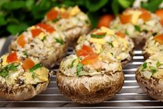 If you're looking for an appetizer absolutely loaded with flavor, look no further than baby portobello (sometimes called portabella because ... Baked Potato, Oven Potatoes, Baked Potatoes