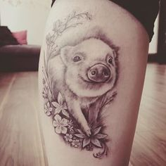 watercolor pig tattoo - Google Search