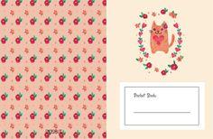 Baixe grátis e imprima três fofos pocket book. Com três estampas de capa e folhas com linha e quadriculada.