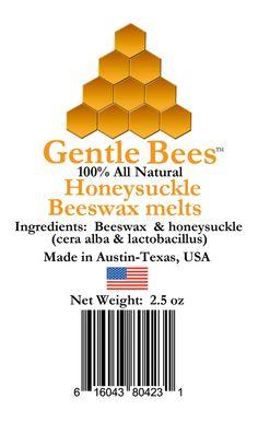 Gentle Bees Honeysuckle Beeswax Candle Melts #GentleBees