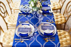 Blue & Gold Celestial Inspired Wedding Ideas via TheELD.com | SY Photography