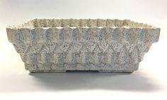 Vintage Retro Mid Century Modern Speckled White Ceramic Planter by UPCO by YatsDomino on Etsy