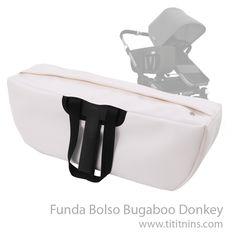 """Te presentamos la """"Funda Bolso Bugaboo Donkey"""". En Tititnins hemos creado la Funda Bolso Bugaboo Donkey que protegerá tus enseres personales de pérdida o hurto en el bolso de equipaje lateral de tu Donkey. #tititnins #pasiontextil #bugaboo #bugaboodonkey #twinstrollers #sillagemelar"""