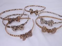 Pack of 6 Leopard Animal Print Fashion Headbands Hair Accessories