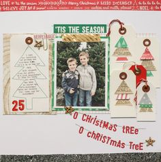 #papercraft #scrapbook #layout CELEBRATE DECEMBER WITH LEXI BRIDGES