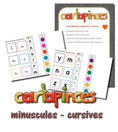 La maternelle de Laurène: Cartapinces - les lettres