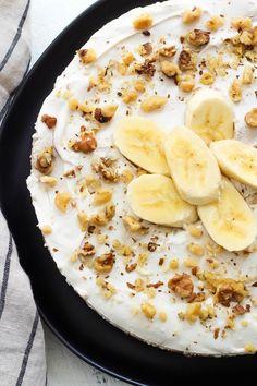 Paleo Banana Cream Pie: Easy, No Bake & Vegan Dessert – Gesundes Abendessen, Vegetarische Rezepte, Vegane Desserts, Paleo Menu, Paleo Recipes, Gourmet Recipes, Dessert Recipes, Paleo Food, Paleo Diet, Paleo Vegan, Diet Menu, Brunch Recipes