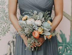 Lisa + Ron's Pastel Daydream Eucalyptus Bouquet, Seeded Eucalyptus, Eucalyptus Wedding, Pastel Bridesmaids, Bridesmaid Flowers, Fall Wedding Bouquets, Wedding Flower Arrangements, Wedding Color Schemes, Wedding Colors
