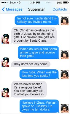Hilarious Text Of The Day ft. Superman
