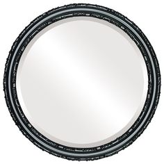 The Oval And Round Mirror Store Virginia Framed Round Mirror in Matte Black, 25 Round Wall Mirror, Wall Mounted Mirror, Beveled Mirror, Round Mirrors, Framed Mirrors, Circle Mirrors, Black Mirror, Victorian Wall Mirrors, Contemporary Wall Mirrors