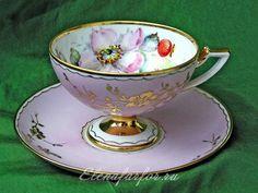Rosehip Tea pair on a pink background Rosehip Tea, Lavender Tea, Antique Tea Cups, Porcelain Mugs, Vintage Tea, Teapots, Pedestal, Bone China, Cup And Saucer