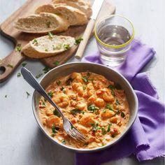 Scampi's in pittige tomaten-roomsaus