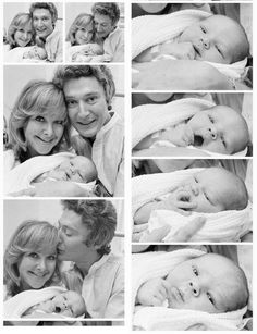 Wanda Ventham and Timothy Carlton with baby Benedict Cumberbatch. This is soooo cute.