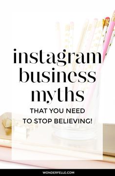 Instagram myths that you need to stop believing. Instagram isn't just for product-base businesses or fashion bloggers. If you think you can't use Instagram for your business, read this post!