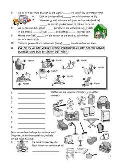 admin Bookbuzz First Grade Math Worksheets, School Worksheets, School Resources, Teaching Skills, Teaching Aids, Classroom Activities, Learning Activities, Afrikaans Language, Sunday School Teacher
