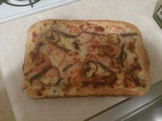 Playing with #Sicilian style pizza. Anchovies and sauteed onions. The #anchovies are going to be an acquired taste.