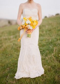 Wedding Ideas: yellow-bouquet-field I want this!!