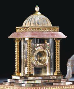 "Cartier ""The Grand Mogul Pavilion Mystery Clock"" Unusual Clocks, Cool Clocks, Big Clocks, Plywood Furniture, Clock Antique, Mystery Clock, Tick Tock Clock, Eames, Mantel Clocks"