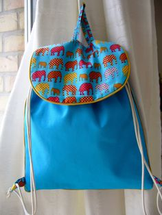 Sac à dos pour maternelle bleu turquoise : Sacs enfants par aujardindemarie