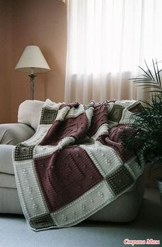 Diy Crafts - This crocheted blanket is an original design that is easy to complete. The entire blanket requires only three crochet stitches - chain st