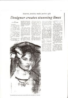 Jane Hall in the eighties hand painted and custom made fashion accessories