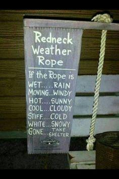 Redneck thermometer !