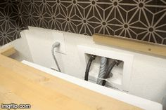 DIY built in washer + dryer - Crazy Wonderful - DIY built in washer + dryer – Crazy Wonderful - Washer Laundry, Laundry Mud Room, Washer And Dryer, Hidden Laundry, Room Closet, Storage, Laundry Room Countertop