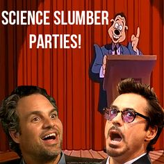 Science Bros best day/night ever. Oh my god, Goofy Movie/Marvel Characters crossover. The internet is such a beautiful place.