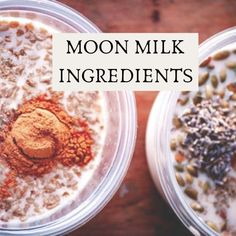 What is Moon Milk? What are the health benefits of consuming Moon Milk? What ingredients are used to make Moon Milk? How to make your own custom Moon Milk + 9 Vegan Moon Milk recipes are to be found in this Ultimate Guide to Moon Milk, with its roots in Ayurveda! #moonmilk #moonmilkrecipe #whatismoonmilk #moonmilkguide | Moon Milk Recipes | Moon Milk Guide Milk Recipes, Coffee Recipes, Vegan Recipes, Snack Recipes, Snacks, Cream Recipes, Vegan Food, Ayurvedic Diet, Ayurvedic Recipes
