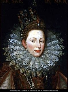 Portrait of Margaret Gonzaga, Duchess of Savoy - Frans, the Younger Pourbus