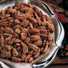 Quick & Easy Spiced Pecans  (hmmmm, might have to try this one? Although I prefer my grandma's recipe it's more complex)