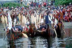 Kwakwak'awakw canoes come ashore at Bella Bella, BC  #aboriginal #native #firstnations