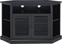 Black Corner TV Stand walker edison - corner tv stand for flat-panel tvs up pdnydnb - Furnish Ideas