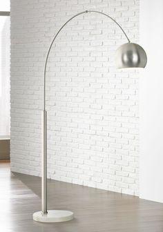 George kovacs polished chrome arc floor lamp style 10783 floor basque steel and brushed nickel arc floor lamp aloadofball Choice Image