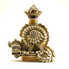 .* Very old  perfume bottle shaped like a dragon- China