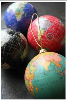 Colorful globes. I want these for next Christmas