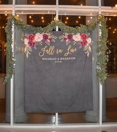 Memories may fade but photographs last forever. Big, bold and beautiful, our customized backdrops elegantly and affordably set the scene for photography. Display your custom banner at the engagement party, ceremony, reception, bridal shower or any other wedding event to serve as the picture perfect Fall Engagement Parties, Engagement Party Decorations, Wedding Photo Booth, Wedding Photos, Wedding Ideas, Church Wedding Decorations Rustic, Photo Booth Backdrop, Autumn Wedding, Boho Wedding
