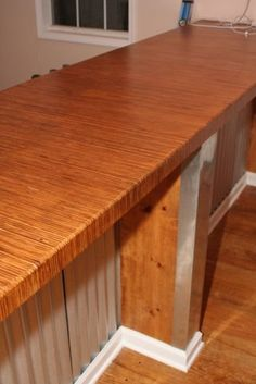 Plywood Countertops - my favorite so far Plywood Countertop, Diy Countertops, Kitchen Counters, Plywood Projects, Home Projects, Woodworking Articles, Woodworking Plans, Workbench With Drawers, Plywood Table