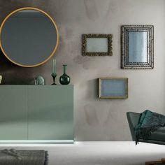 Aparadores de Diseño © Modernos y Clásicos【 100% CALIDAD 】 Modern Furniture Online, Wood Sideboard, Luz Led, Green Colors, Storage Spaces, Modern Design, Gallery Wall, Brown, Home Decor