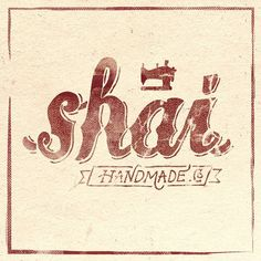 vintage hand lettered logotype for Shai Handmade by Alterdeco inc.