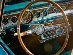 Giant steering wheels-like my '63 Chevy Bel Air!