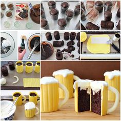How to Make Beer Mug Cupcakes With A Sweet Baileys Filling