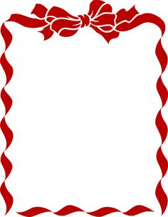 Ribbon Bow Border Red Thuy Means  C B Public Domain Vintage Images